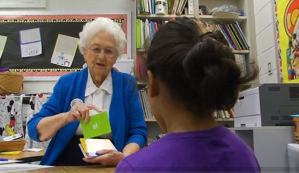 91-year-old retired educator is now a valuable volunteer