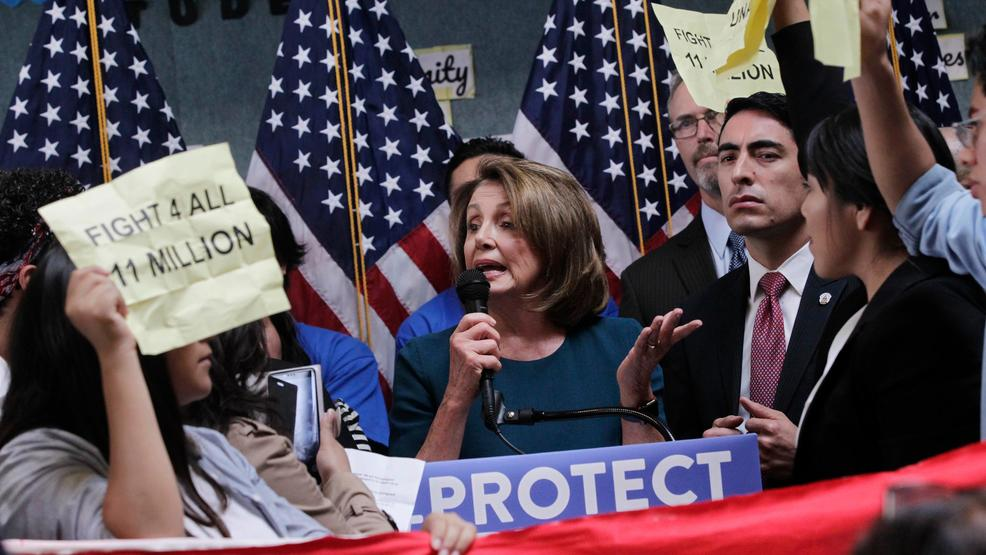 Nancy Pelosi shutdown confrontation AP48.jpg
