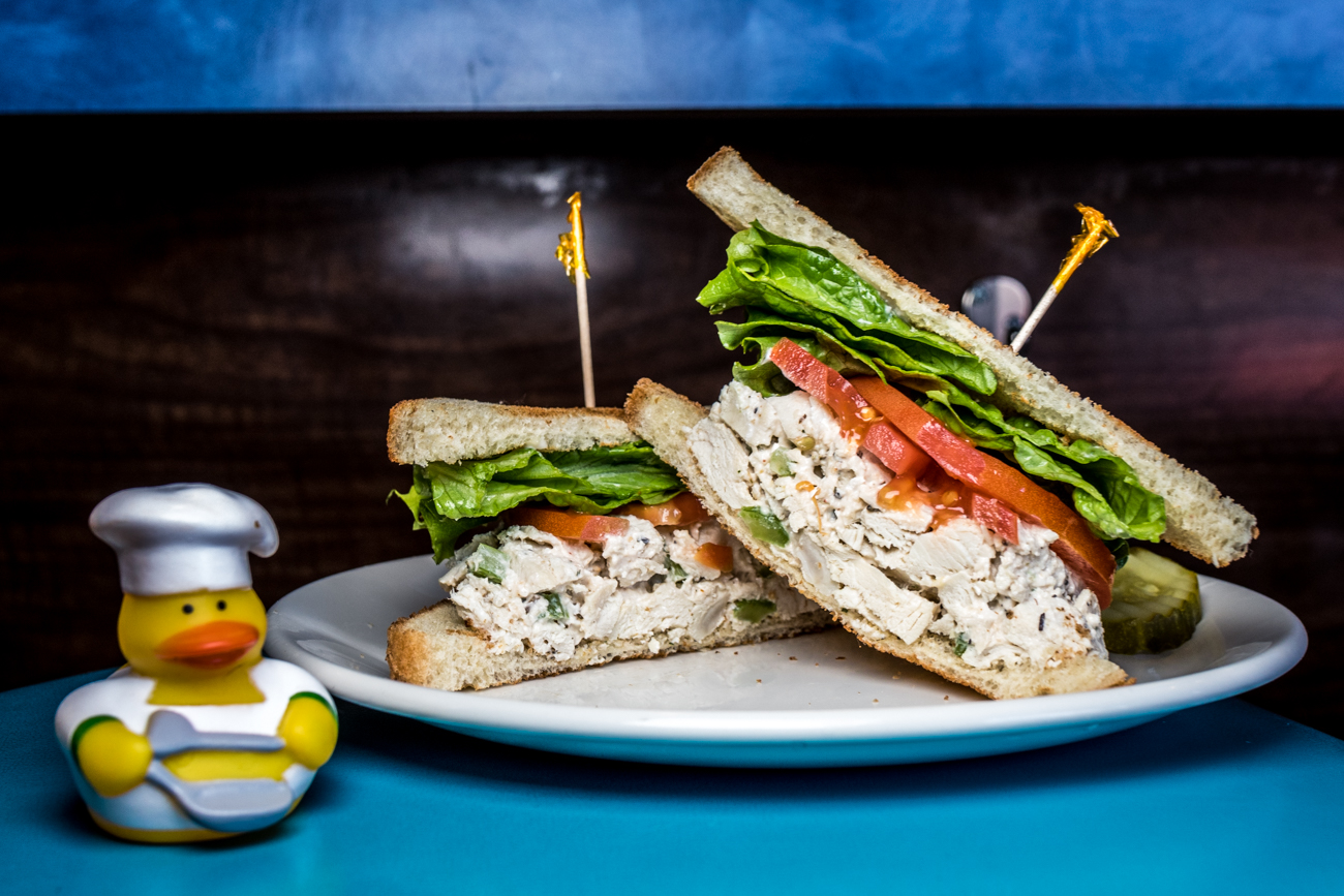 Chicken Little: chicken salad on toasted white or wheat bread with lettuce and tomato and served with pickles / Image: Catherine Viox // Published: 2.2.20