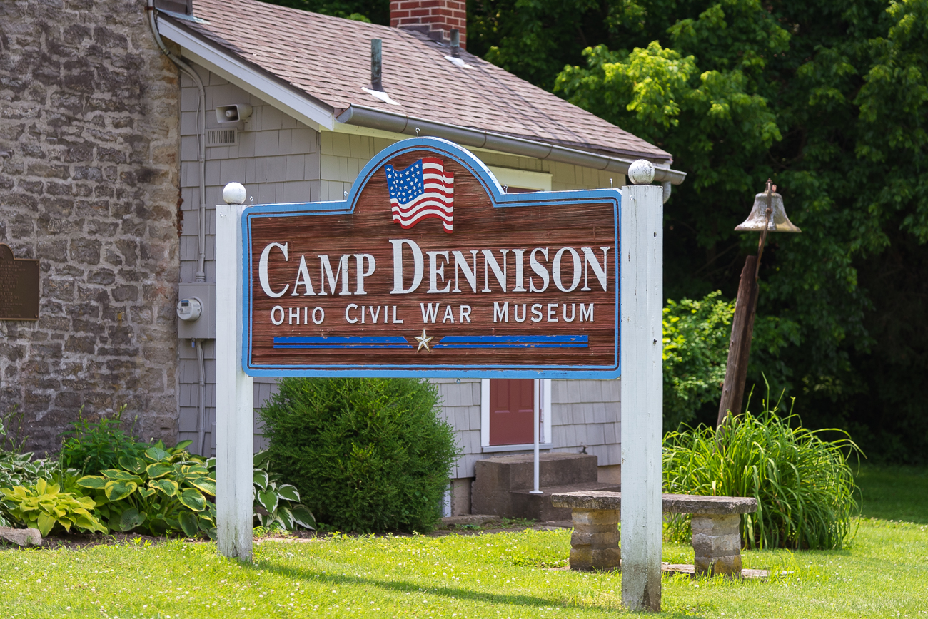 Camp Dennison is a former Civil War outpost located in the Little Miami river valley between Indian Hill, Milford, and Miami Township. It once encompassed 700 acres of land used to train soldiers, heal the sick and wounded, and deploy troops wherever needed using its strategic placement along the railroad and Little Miami River. The camp was named for Ohio Governor William Dennison. It is 17 miles northeast of Downtown Cincinnati. / Image: Phil Armstrong, Cincinnati Refined // Published: 6.21.18