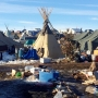 Pipeline protesters pray, set fires ahead of camp closing