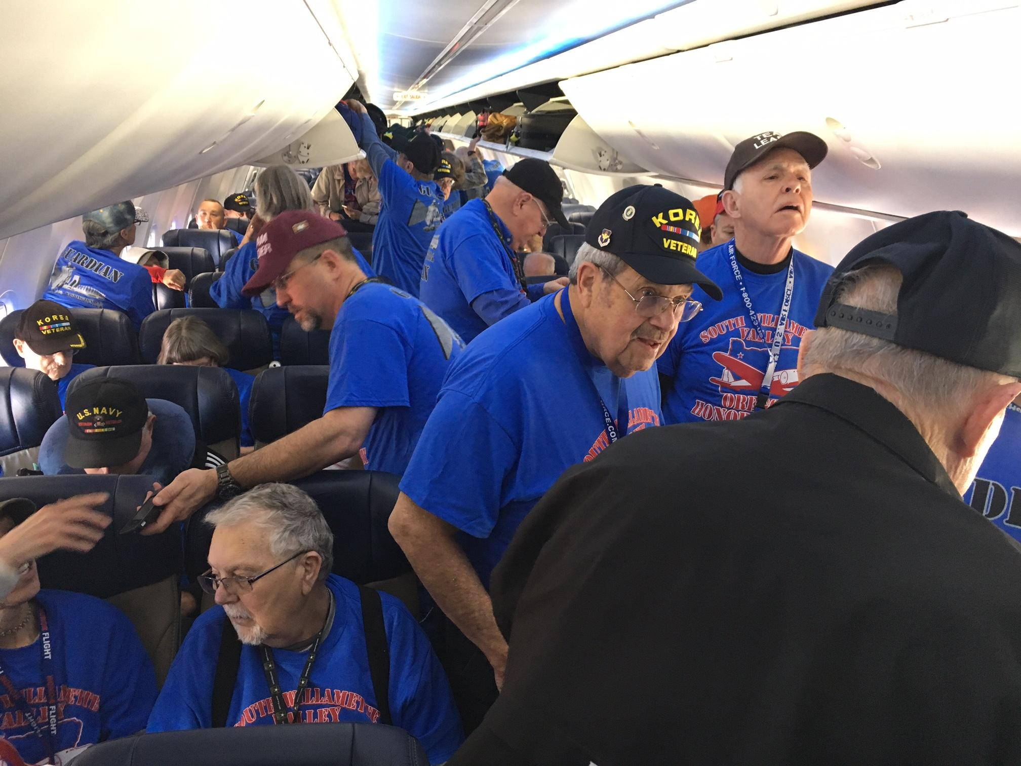 Honor Flight on plane.JPG
