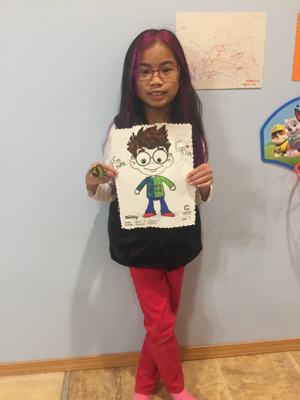 Geia AcuZar, 2nd grade, Orchard Heights Elementary