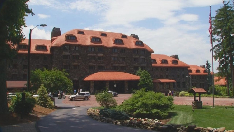 The story goes that a woman was pushed or fell from a balcony to her death at Grove Park Inn. The Pink Lady has been seen numerous times by staff and guests. (Photo credit: WLOS staff)