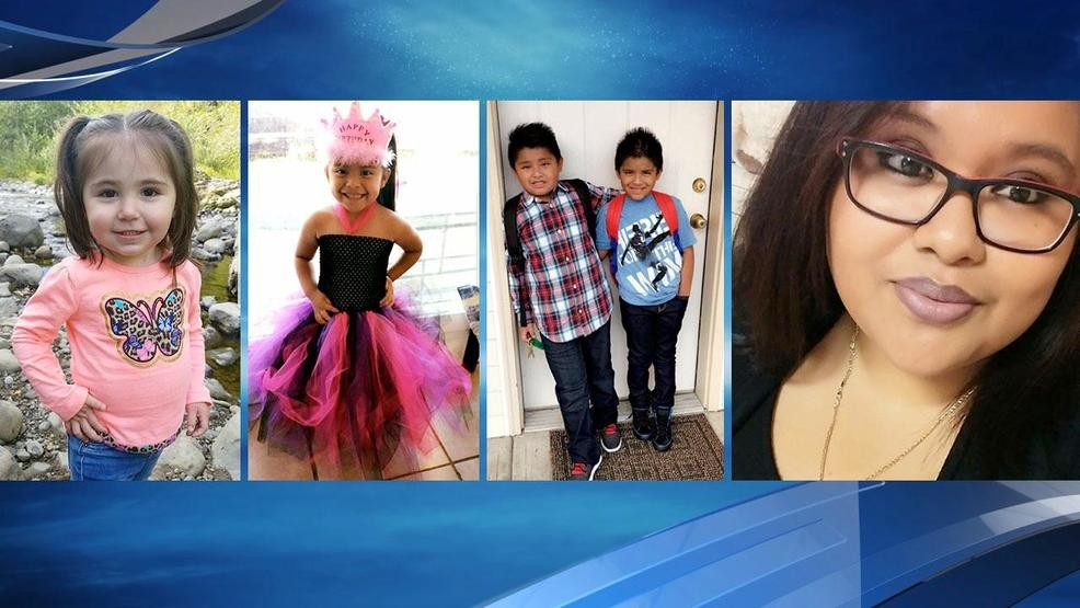 From left - Angelina Vasquez-Crisp, 2, Dayanara Medrano-Perez, 4, Ivan 'Ricardo' Medrano-Contreras, 8, Andrus Medrano-Contreras, 6, and Lizette Medrano-Perez. (Photos from family members)<p></p>