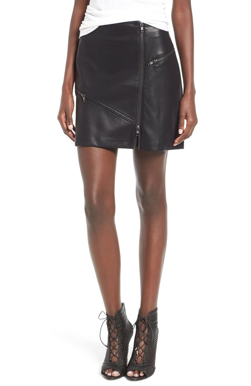 Just buy this 'Leith Zip Miniskirt'.  Seriously. We all need it.  Pair with some funky tights and a sweater. Classic.  $79.00 (Image: Nordstrom)