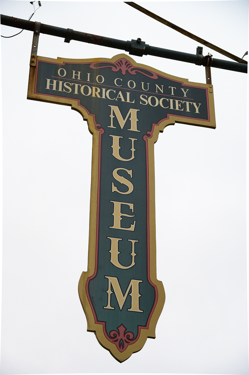 A neat sign that hangs outside of the museum / Image: Phil Armstrong, Cincinnati Refined // Published: 1.7.20