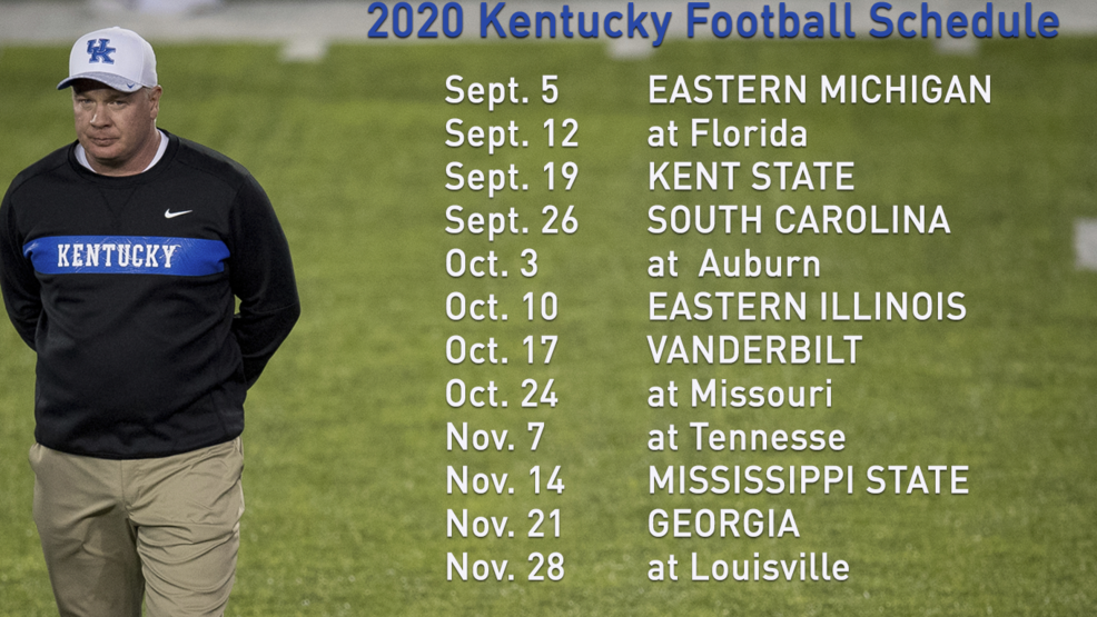 Kentucky's 2020 football schedule released, along with ...