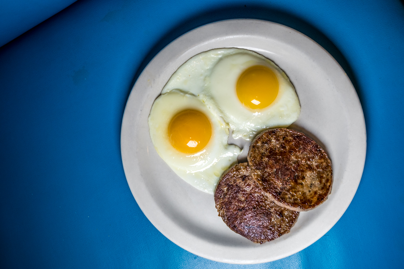 Breakfast Special: two eggs with choice of sausage, bacon, or ham with your choice of two Wispy Pancakes or one piece of French toast / Image: Catherine Viox // Published: 2.2.20