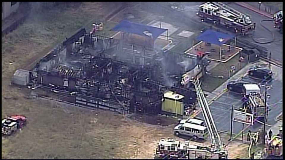 Fire destroys the Bright Kids Daycare & Learning Center on Thousand Oaks. (SBG San Antonio)