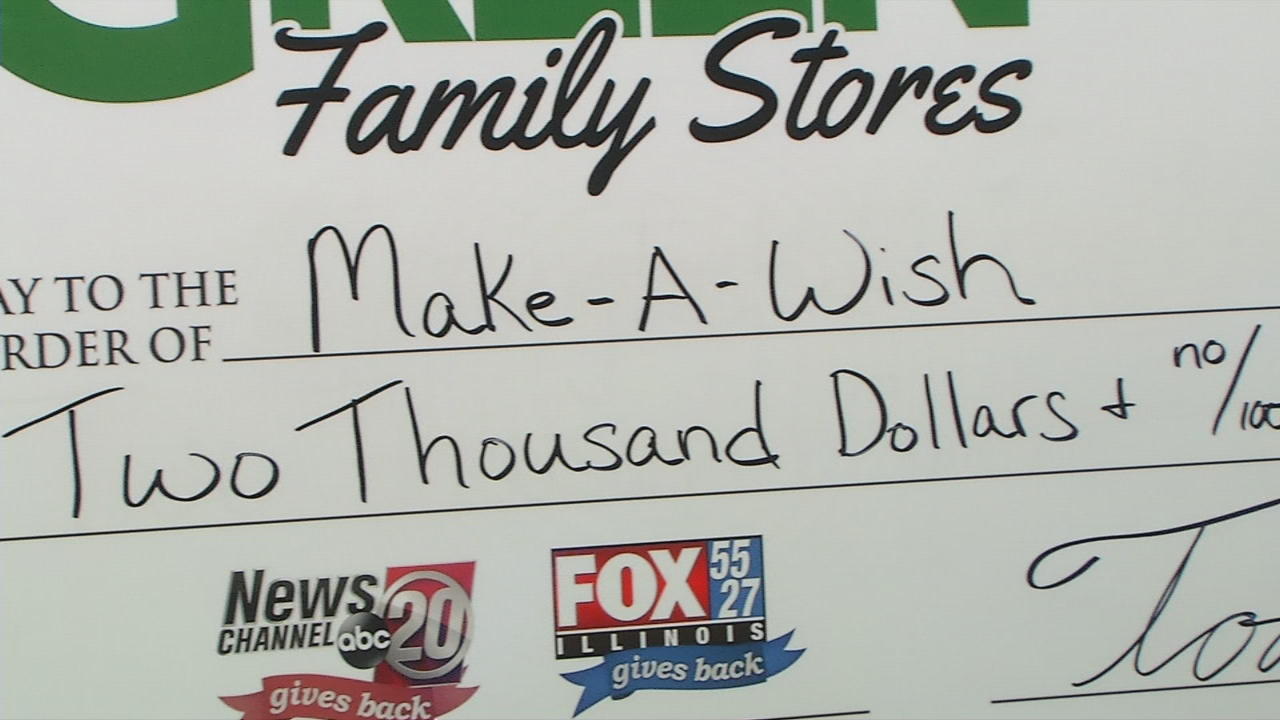 Green Family Stores >> Make A Wish Receives 2k From Green Family Stores Storm Team 20