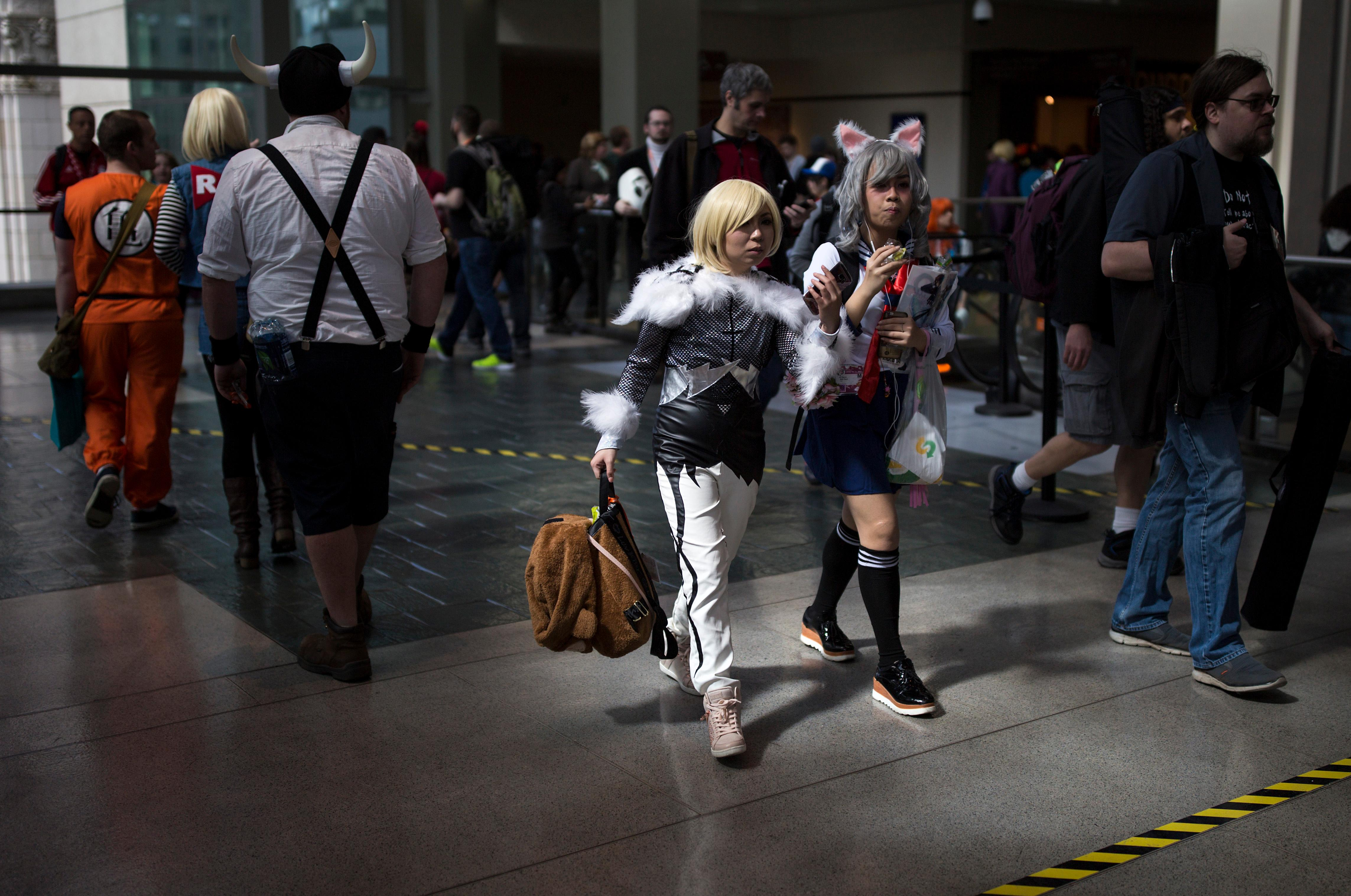 An abundance of cosplay can be seen during day two of Sakura-Con, the three day anime convention at the Washington State Convention Center. Sakura-Con is the oldest and most well attended anime convention in the Pacific Northwest. Member attendance for Sakura-Con 2016 was over 23,000 individuals. (Sy Bean / Seattle Refined)