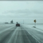 Strong winds blow snow, reduce visibility for drivers