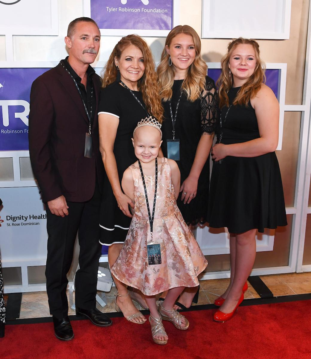 The Clark family, including Raynie Clark, appears on the red carpet for the Rise Up Gala, and event created to raise funds for the Tyler Robinson Foundation, Friday, September 6, 2019, at the Wynn. (Sam Morris/Las Vegas News Bureau)
