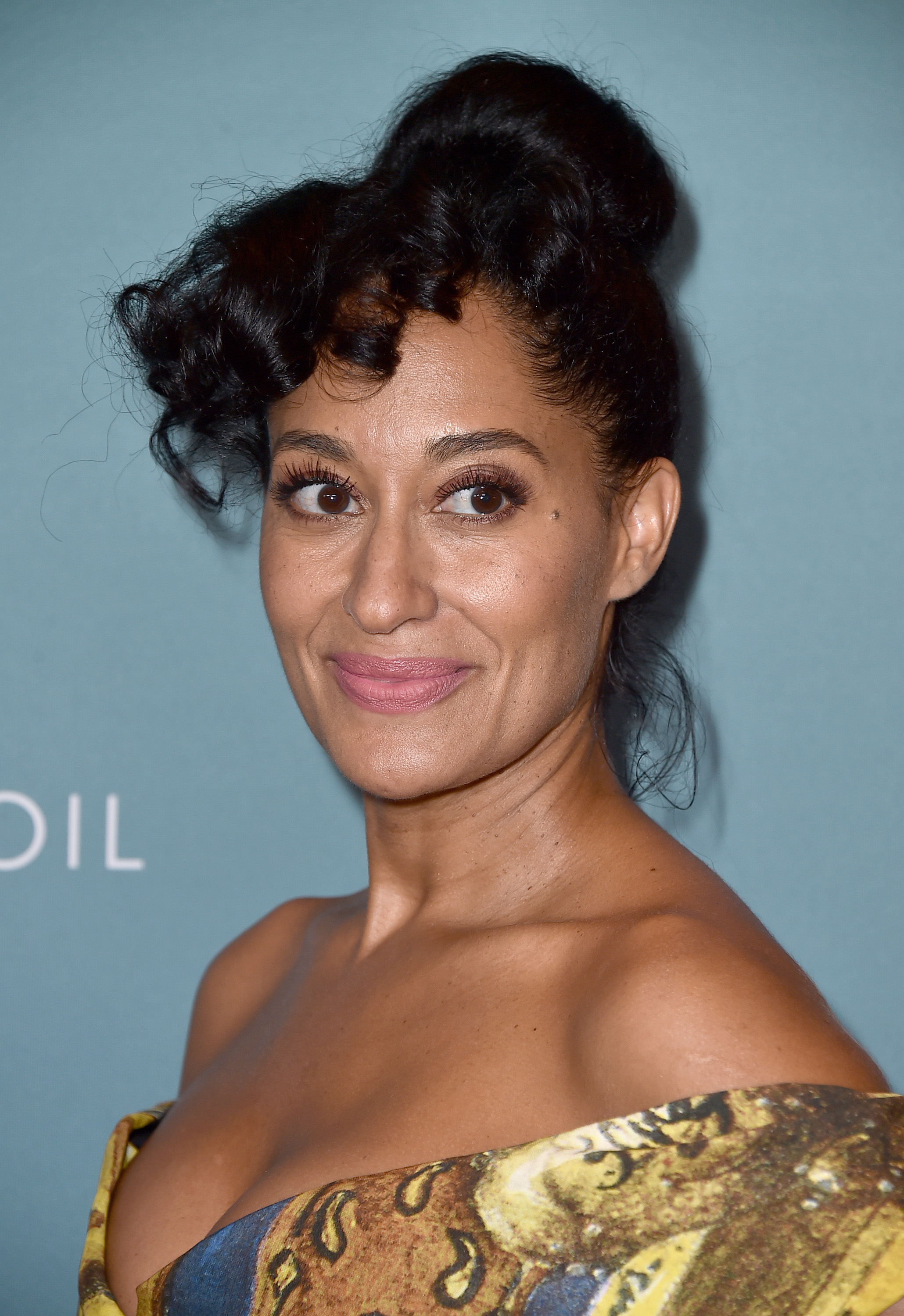 Tracee Ellis Ross arrives at the Variety Power of Women luncheon at the Beverly Wilshire hotel on Friday, Oct. 9, 2015, in Beverly Hills, Calif. (Photo by Jordan Strauss/Invision/AP)