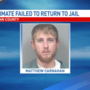 Linn County inmate failed to return to jail after court ordered furlough