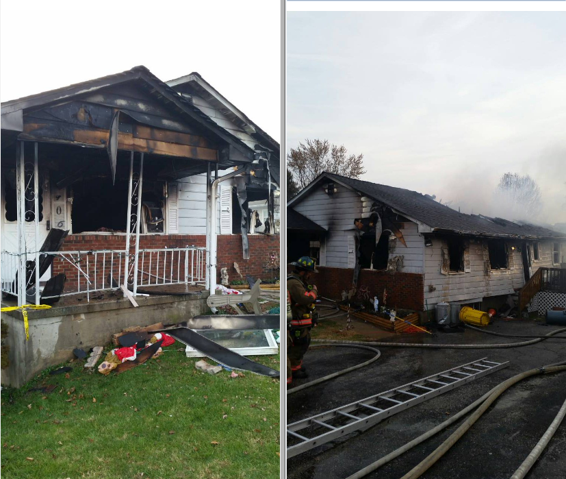 House explodes in Lansdowne; one injured (Courtesy: Baltimore County Public Safety)<p></p>