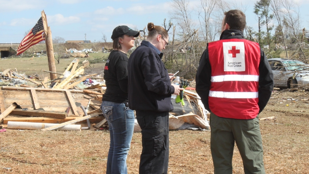 Red cross sets up multi agency resource center in for M and m motors appomattox