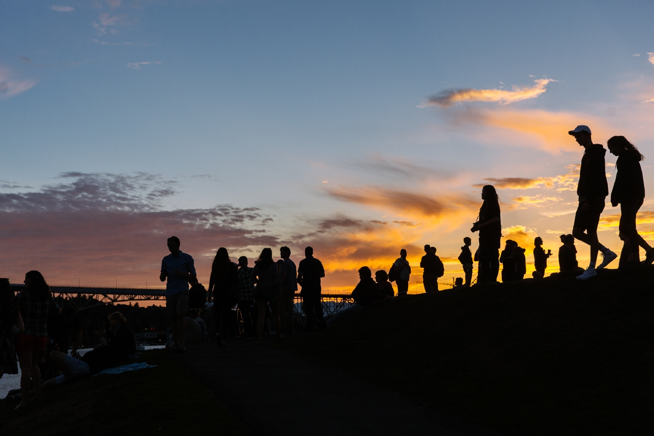 Last night hundreds of people came out to Gas Works Park to enjoy sunset on one of the hottest days of the year. With a weekend heatwave, summer doesn't officially start until later this month, but it certainly feels like it. June 3rd 2016. (Image: Joshua Lewis / Seattle Refined)