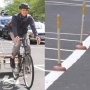 Cyclist lines up 72 plungers along Providence bike lane to promote safety