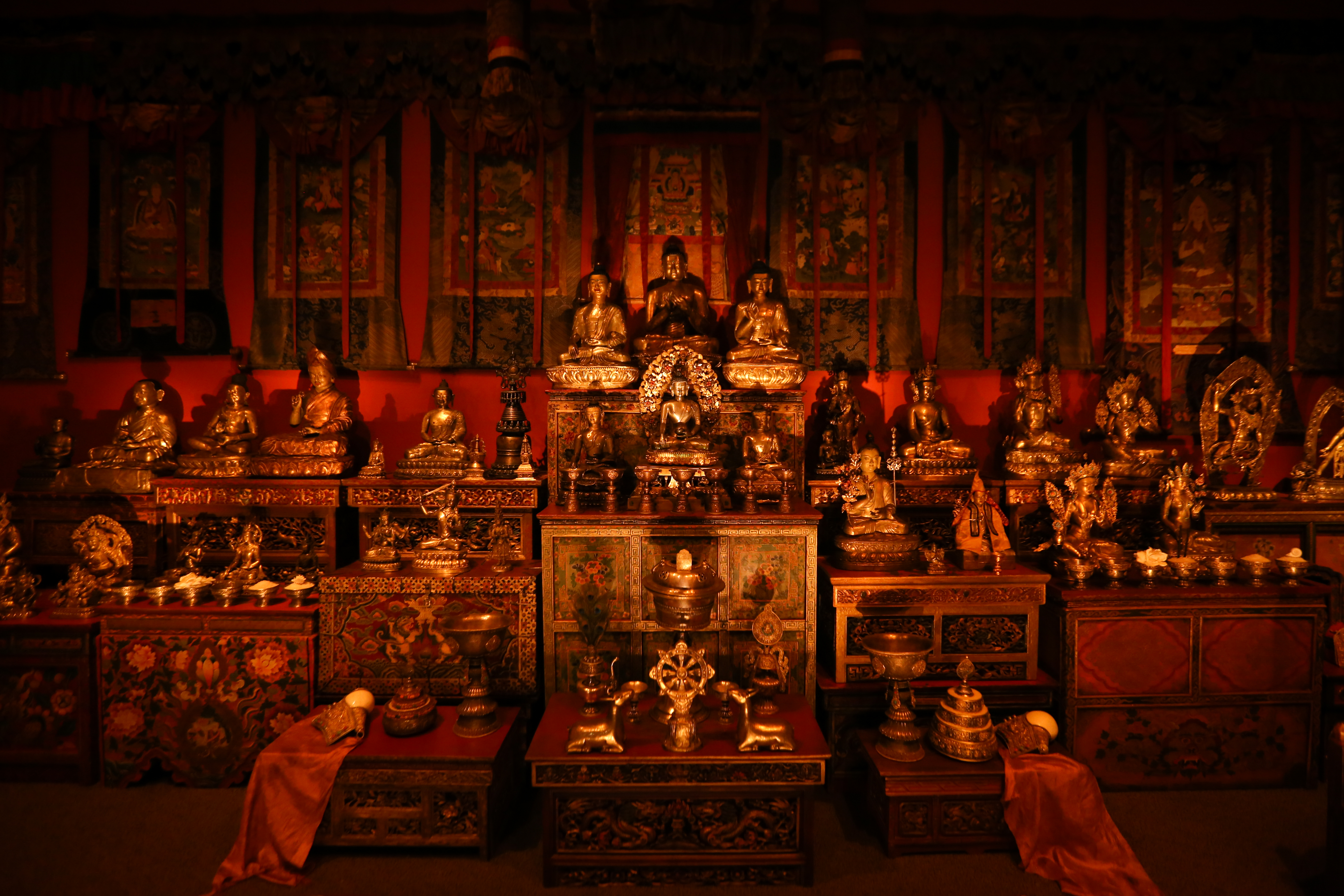 The Tibetan Buddhist shrine includes a soundtrack of monks chanting. (Amanda Andrade-Rhoades/DC Refined)