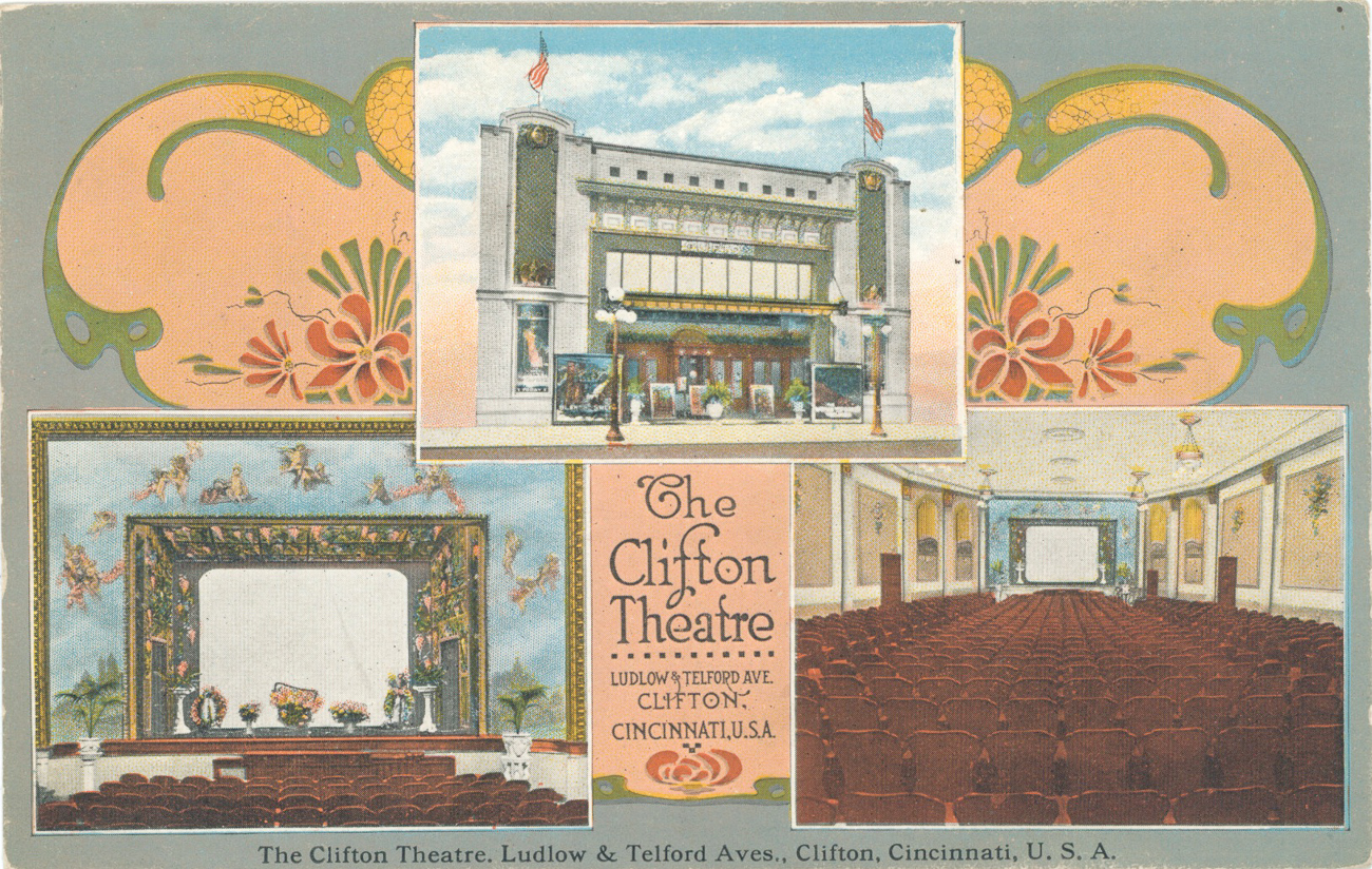 An old postcard from when the Esquire was called The Clifton Theatre / Image courtesy of The Esquire Theatre // Published: 3.17.19