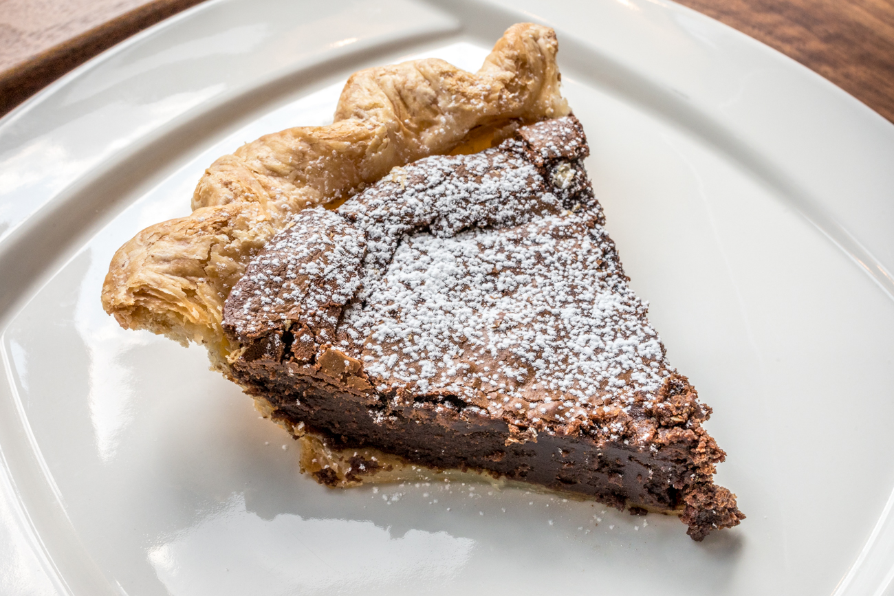 Dark Chocolate Pie: chocolate, miso, and vanilla bean / Image: Catherine Viox // Published: 9.16.20