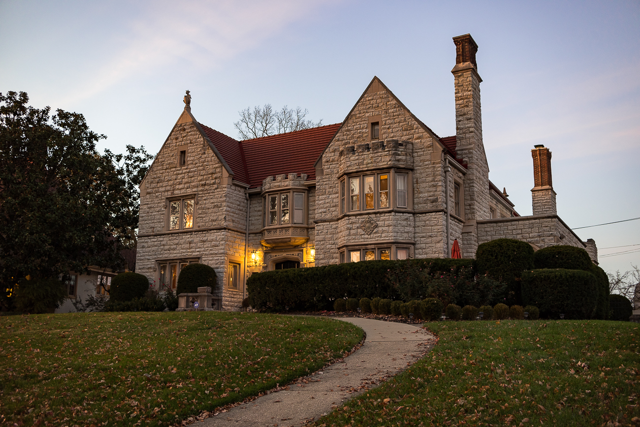<p>THE CANTALOUPE KING MANSION (North Avondale): Stephen A. Gerrard, a poverty-stricken youth who became a wealthy and prominent grocery tycoon by the turn of the 20th Century, built a Gothic Tudor Revival house in North Avondale in 1915. The house sits upon the highest point in the neighborhood and is also notable for having the largest residential pipe organ in the United States. It is the personal residence of Tiffany Zerby and Adam Heider today. / Image: Phil Armstrong, Cincinnati Refined // Published: 11.7.18</p>