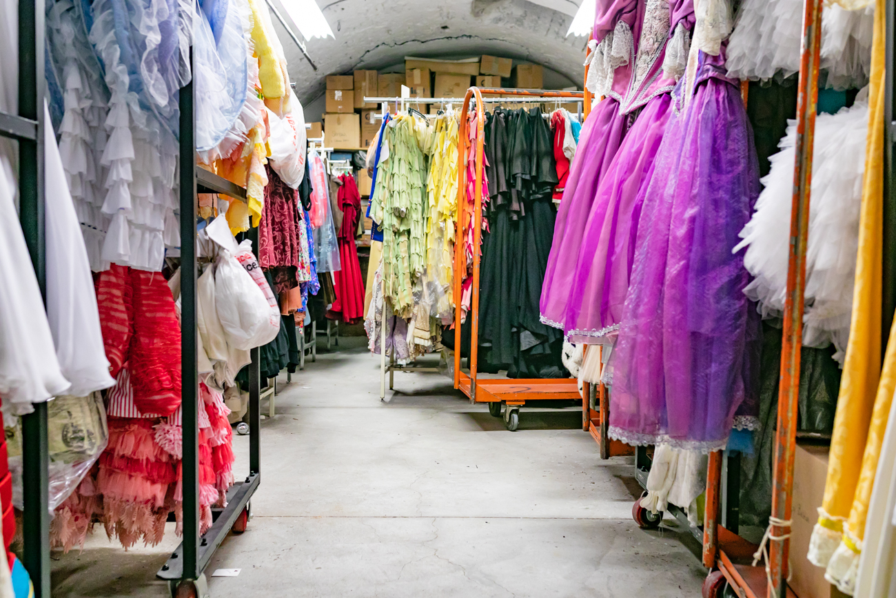 The Cincinnati Ballet stores decades of costumes, some going even as far back as 1964, inside the former beer cellars of the long lost Windisch-Muhlhauser Brewing Co., otherwise known as the Lion Brewery. The brewery was built in 1866, and though most of it has since been demolished, the cellars remain. For Wardrobe Mistress Diana Adams, the lack of sunlight and controlled temperatures are perfect for safely storing delicate, expensive, hand-sewn costumes. Diana has worked for the Cincinnati Ballet for 47 years. ADDRESS: 1555 Central Parkway (45202) / Image: Amy Elisabeth Spasoff // Published: 12.11.18