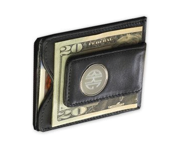 Tuckernuck, Engraved leather wallet and money clip, $50 (BrandlinkDC)