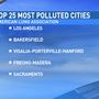 Several Central Valley cities make top 10 list for most polluted