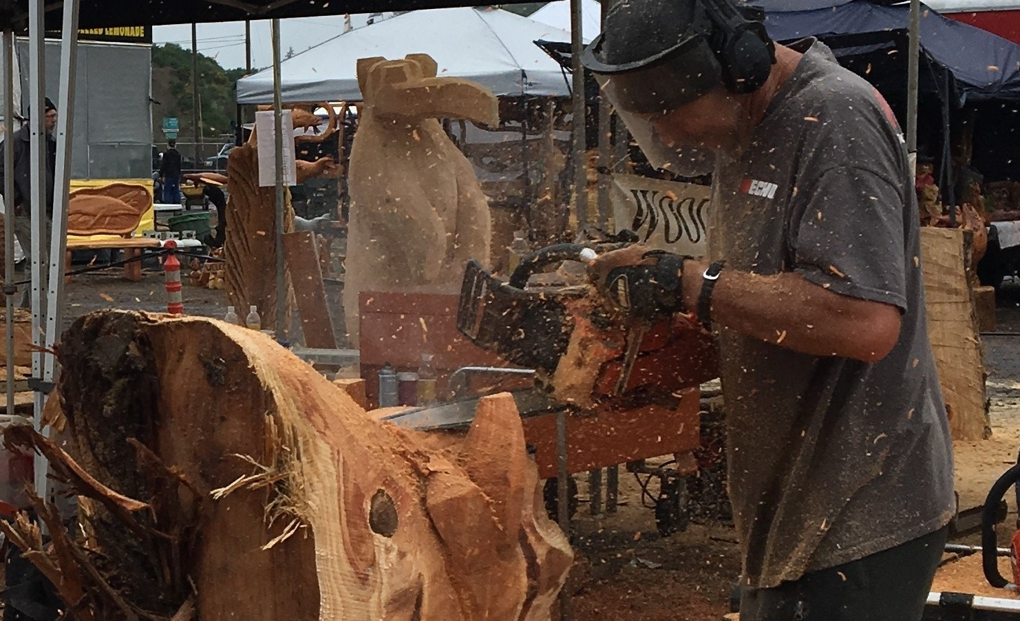Chainsaw carving championships brings carvers from around