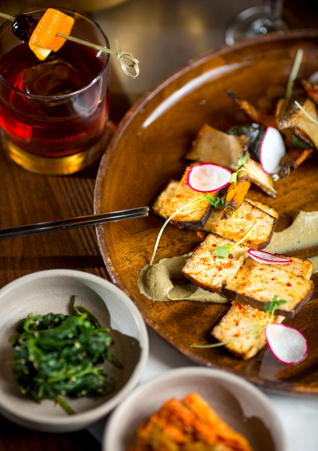 Roasted Vegetable (smoked tofu and seasonal vegetables) at Girin Ssam Bar, located at 501 Stadium Place S. (Sy Bean / Seattle Refined)