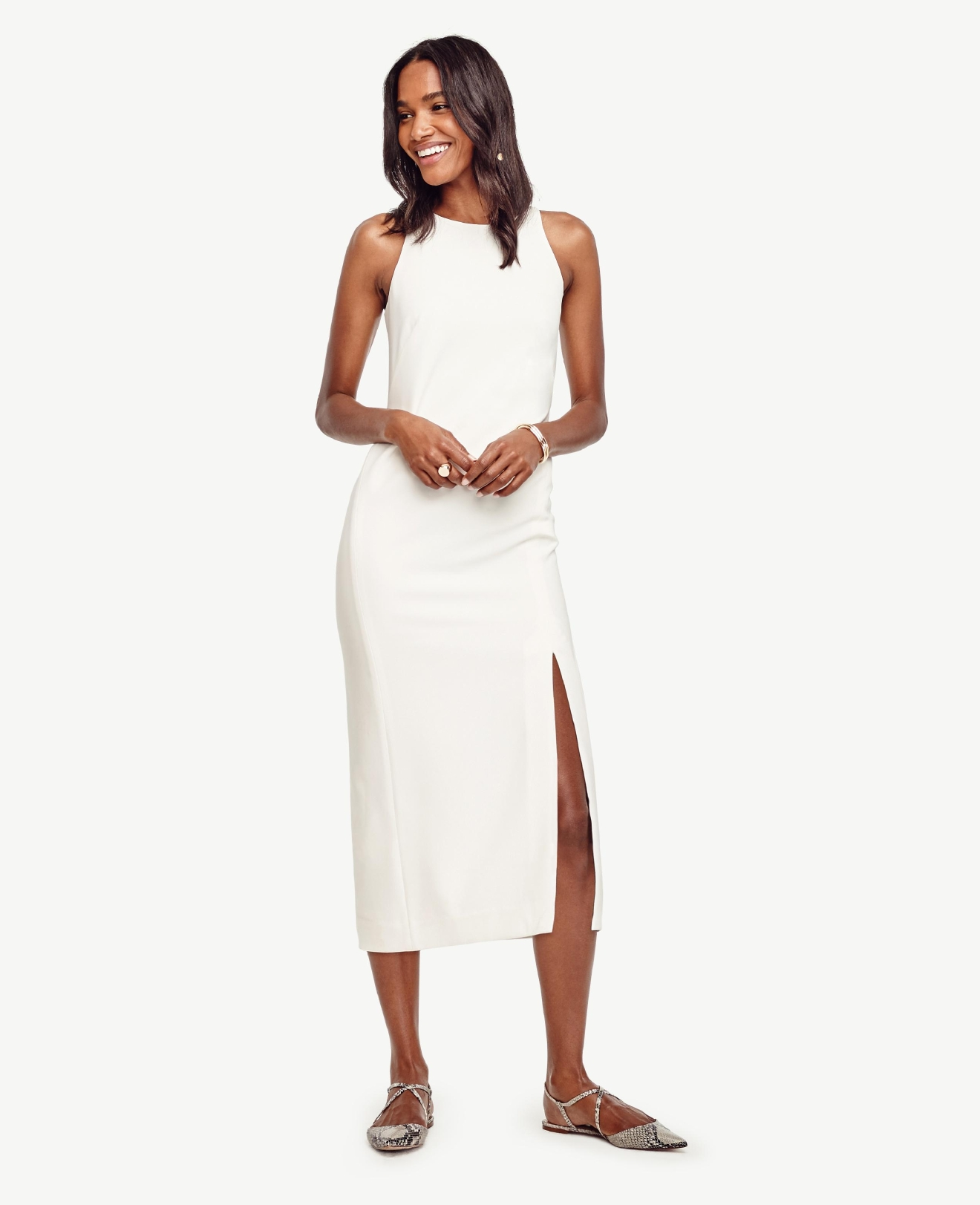Ann Taylor Split Column Dress, $169, anntaylor.com (Image: Courtesy Ann Taylor)