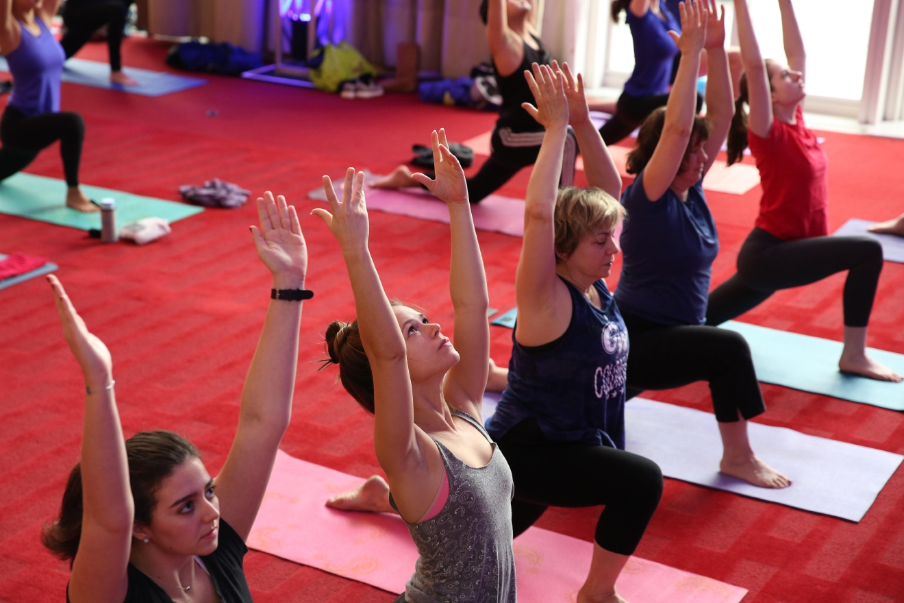 Most people looking to decompress head to the Kennedy Center to listen to music. Now patrons have one more option to relax- a free vinyasa yoga class. The hour-long course, which is open to yogis of all skill levels, are held every other Saturday until August 19. (Amanda Andrade-Rhoades/DC Refined)