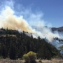 Fast-growing brush fire forces evacuations at state park near Redmond