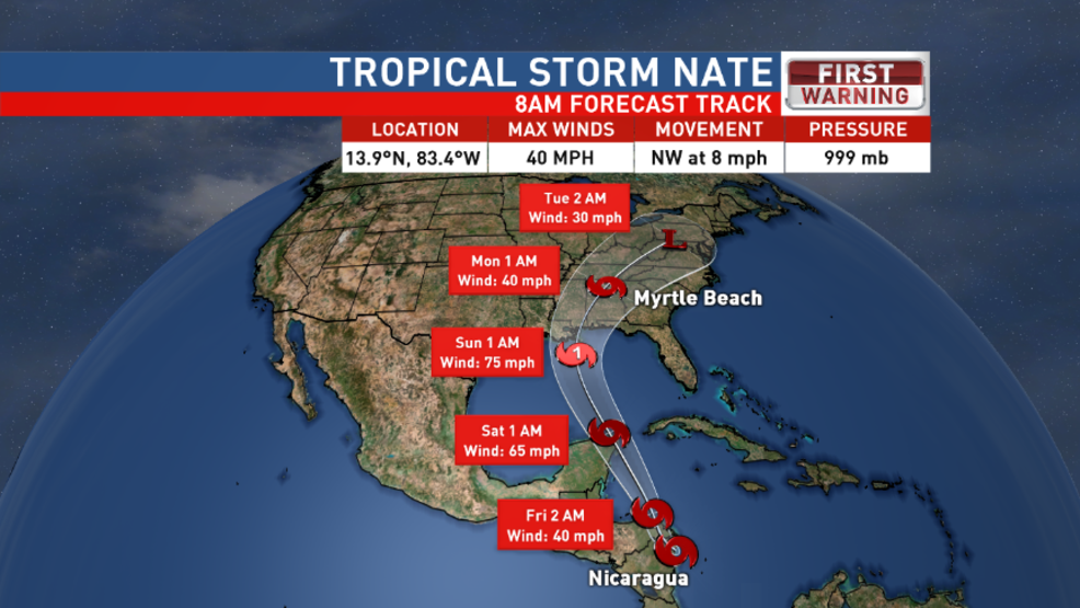 10-5-17: Tropical Storm Nate Forms