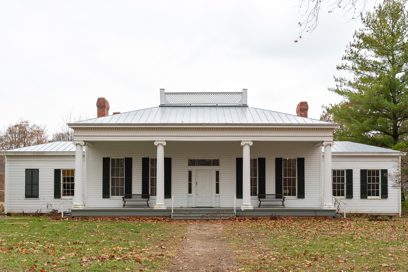 The Hayner House belonged to John Hayner and was built in 1852. The Greek Revival structure is home to the Heritage Village Museum offices, gift shop, and Ford Resource Center Library today. Inside, visitors will find a wide assortment of 19th Century artifacts, portraits, and more. When the house originally began to deteriorate on its plot of land near South Lebanon, it was disassembled and placed into storage before eventually being rebuilt at Heritage Village in 1967.{ }/ Image: Phil Armstrong, Cincinnati Refined // Published: 12.5.19