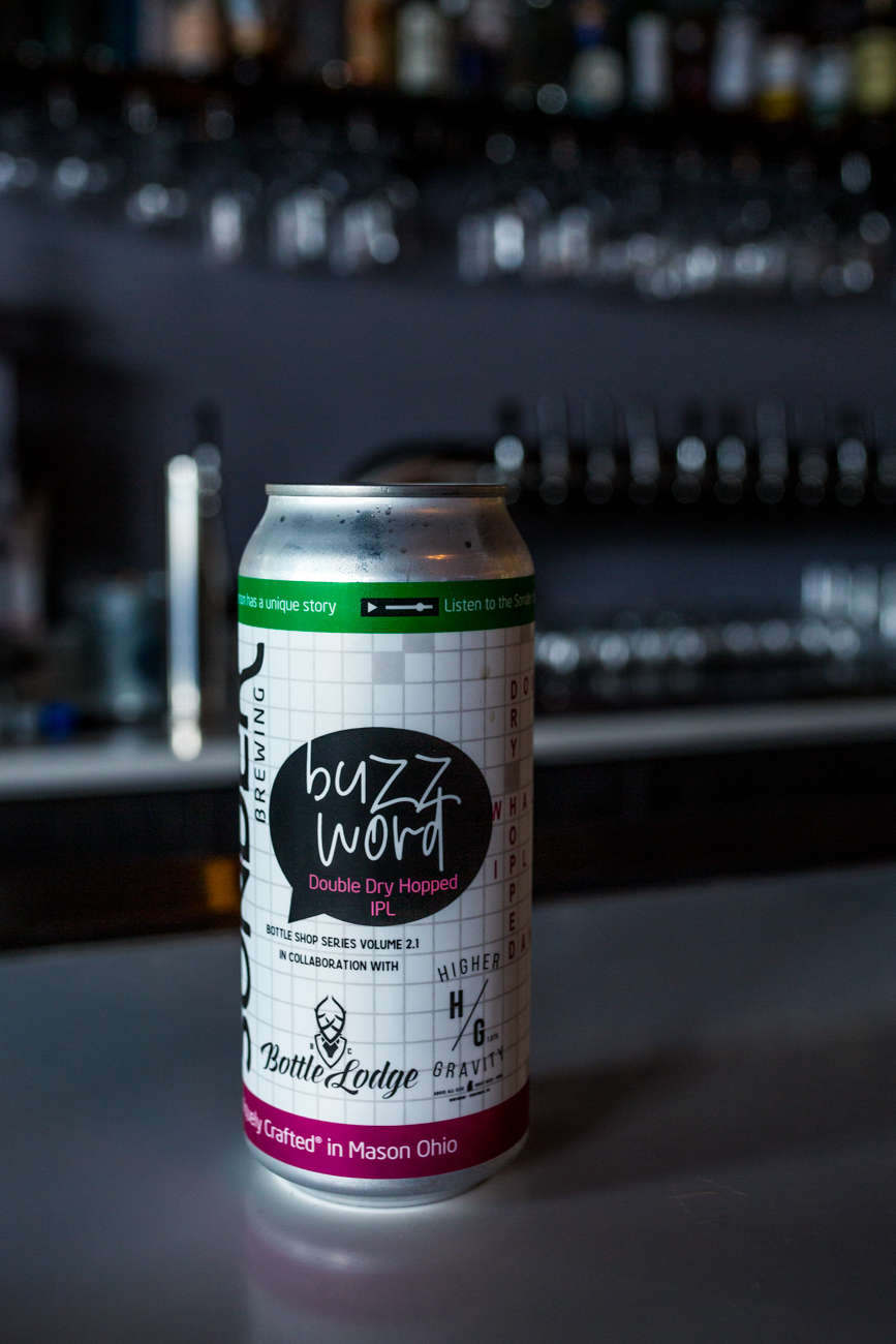 Buzz Word: a collaborative, double hopped, dry IPL made with Sonder Brewing Co. / Image: Catherine Viox // Published: 9.16.19