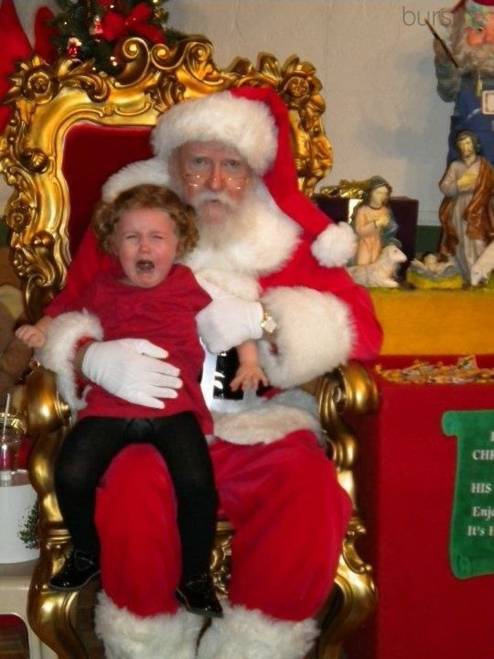 Photo with Santa at Bronners didn't go as planned. (Photo courtesy of Sarah Kleinebreil)