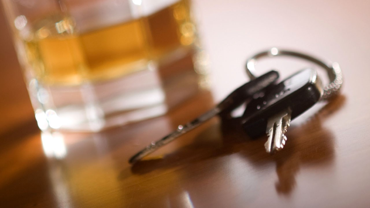 Keys next to a cup of alcohol (MGN Online)