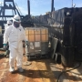 Coast Guard oversees removal of nearly 3,000 gallons of oily water from barge at Goble