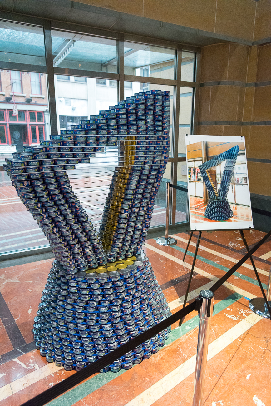 Structure: A Harp Against Hunger / Location: The front lobby of Aronoff Center for the Arts / Image: Phil Armstrong, Cincinnati Refined // Published: 4.16.18