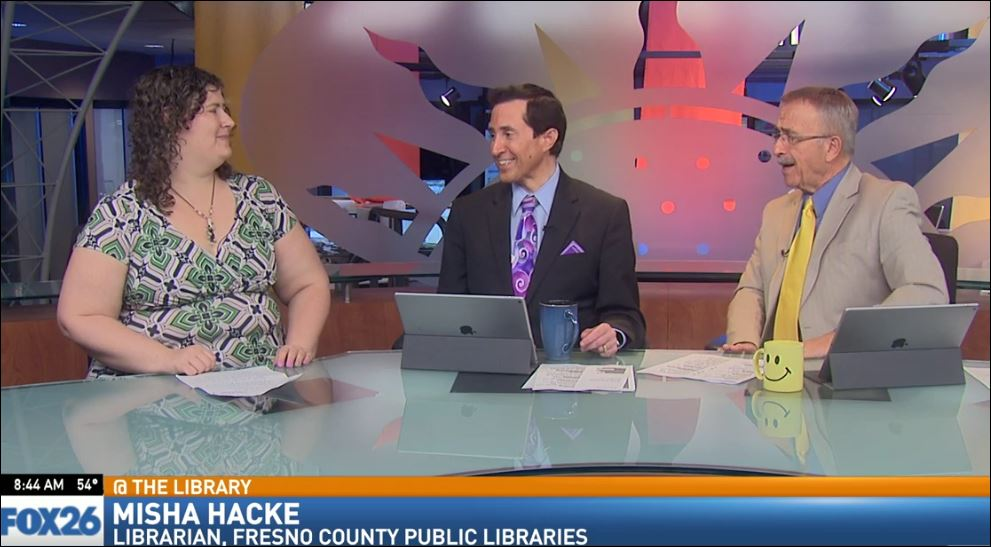 Librarian Misha Hacke visited Great Day to talk about what's going on this month