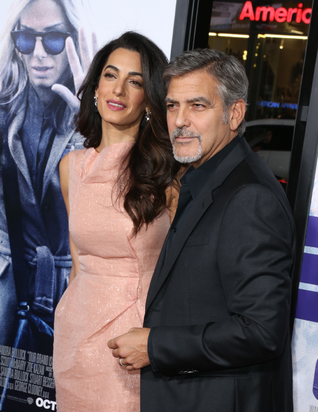 "Premiere Of Warner Bros. Pictures' ""Our Brand Is Crisis""                                    Featuring: Amal Alamuddin, George Clooney                  Where: Hollywood, California, United States                  When: 27 Oct 2015                  Credit: FayesVision/WENN.com"