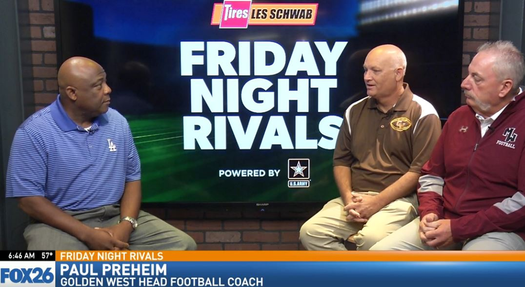 Gold West head football coach Paul Preheim talking about the Trailblazers keys to the game