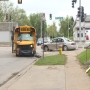 School bus & car collide, one person in hospital