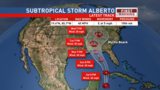 Sub-Tropical Storm Alberto forms, heavy rain likely for our area