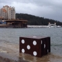 Giant die washes ashore on Lake Coeur d'Alene