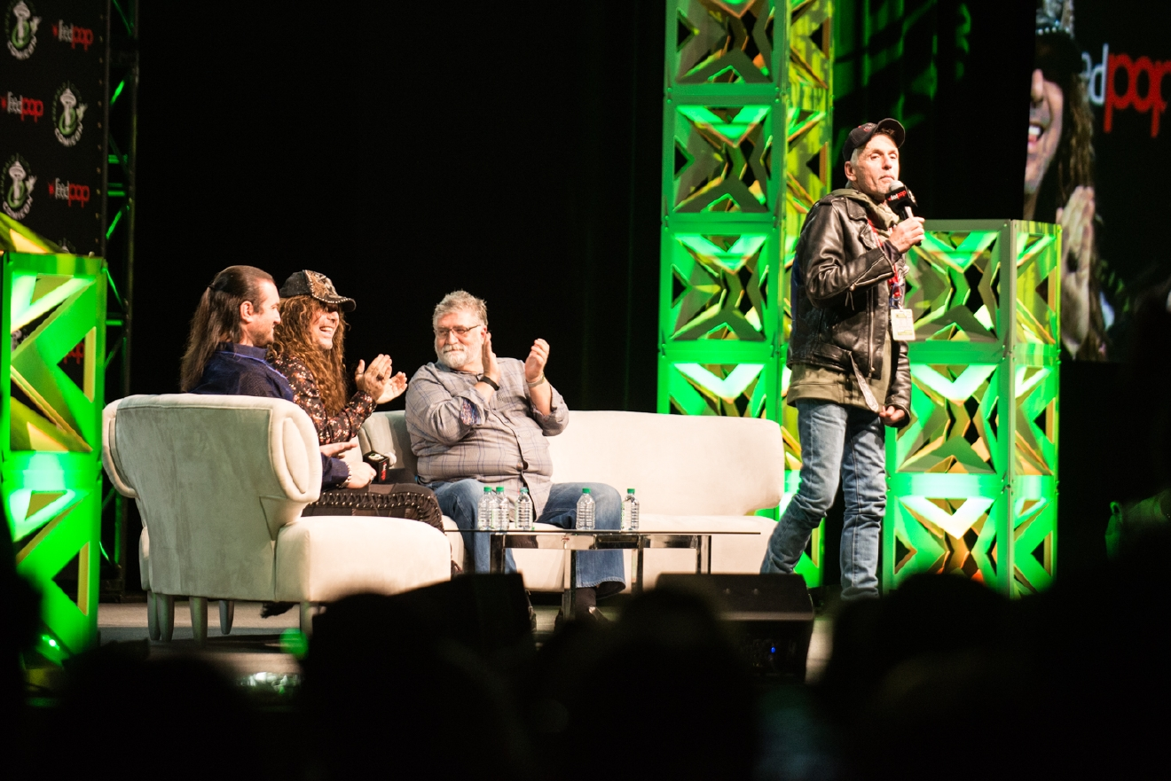 Holy cow! Not only did we see incredible costumes this weekend, but some incredible celebrity guests attended ECCC 2017 panels too! Just to name a few: Caitriona Balfe (Claire in Outlander), Clare Kramer (Glory in Buffy the Vampire Slayer), Evangeline Lilly (Kate in Lost, Hope in Antman), Jason Momoa (Khal Frogo in Game of Thrones, Aquaman), Jeremy Renner (Hawkeye in Marvel's The Avengers), Michael Rooker (Yondu in Guardians of the Galaxy), Millie Bobby Brown (Eleven in Stranger Things), Sam Heughan (Jamie in Outlander), Sean Gunn (Kirk in Gilmore Girls, Kraglin in Guardians of the Galaxy), Tom Felton (Draco Malfoy in the Harry Potter films). Click on for everyone we were able to get pics of! (Image: Chona Kasinger / Seattle Refined)